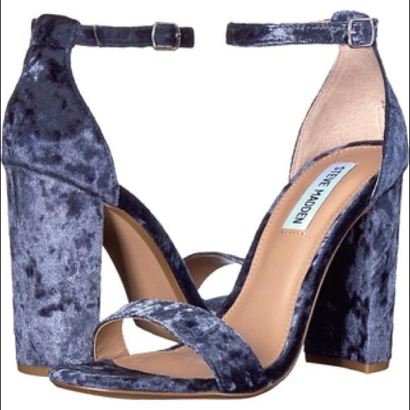 e403e7717eb Steve Madden Blue Velvet Carrson Heels. M 5c362d627386bc81792eb856